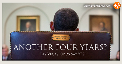 Barrack Obama in Chair - Vegas Odds Say another four years